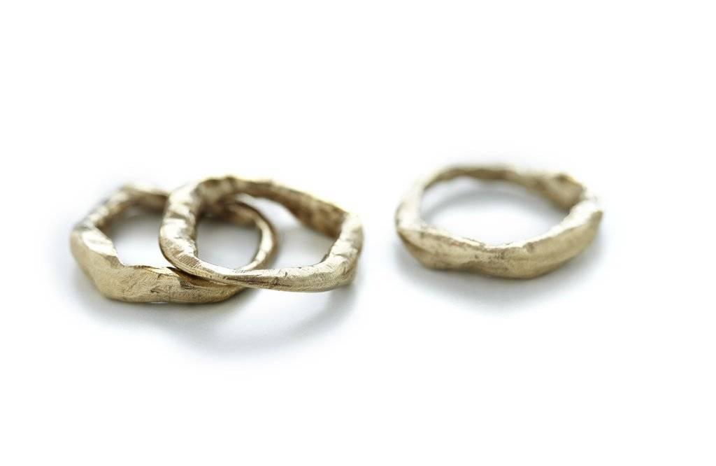 Chikahisa Studio Bronze Stone Stacking Ring