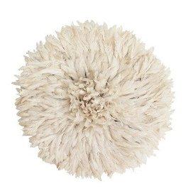 Kiondo White Juju Feathered Hat
