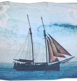 """Linen Farm """"Tall Ship"""" Linen Scarf"""