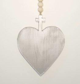 Entouquet Silver Heart-Cross Tile Hanging
