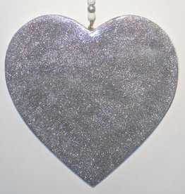Entouquet Silver Sparkle Heart with Crystal Hanging