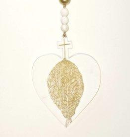 Entouquet Gold Wing Cross-Heart Hanging