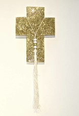 Entouquet Gold Sparkle Cross w/ Tassel