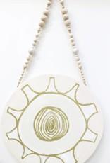 Entouquet Pink & Gold Tribal MEDIUM Circle on Balls & Beads