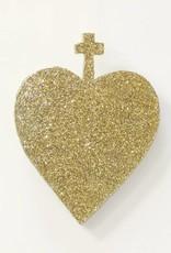 Entouquet Gold Sparkle Cross-Heart