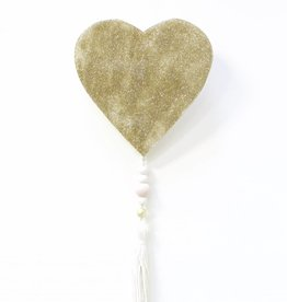 Entouquet Gold Sparkle Heart with Tassel
