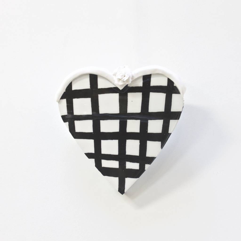 Entouquet Sm. Heart Tile w/ Grid and Sm. Flower Topper