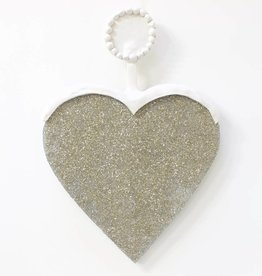 Entouquet Lg. Sparkle Heart w/ Round Clay Topper