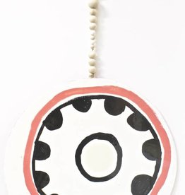 Entouquet Bright Pink and Black Circle with Cross and Beads