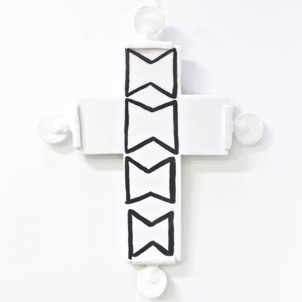 Entouquet Black & White Cross w/ 4 Circle attachments