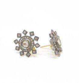 Himatsingka Lucie Starburst Small Stud Diamond Earrings