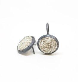 Himatsingka Sparkler 14mm Silver Fixed Hook Earrings