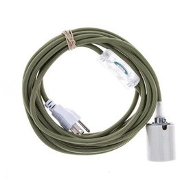 Color Cord Company Porcelain Light Cord Set - Olive