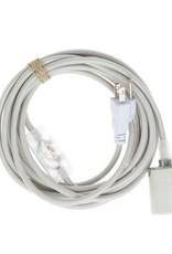 Color Cord Company Porcelain Plug-In Light Cord - Silver