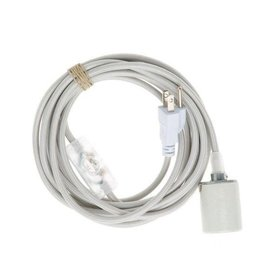Color Cord Company Porcelain Light Cord - Silver