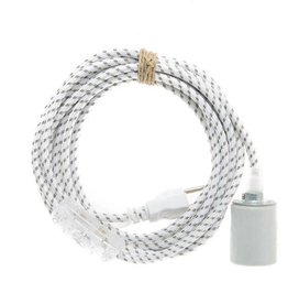 Color Cord Company Porcelain Light Cord - Grey Dots