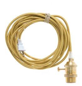Color Cord Company Brass Light Cord - Brass