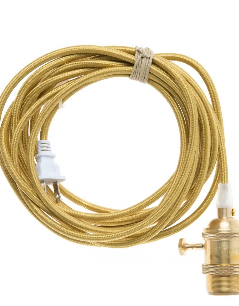 Color Cord Company Brass Plug-In Light Cord - Brass