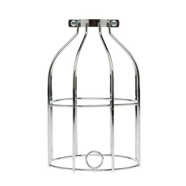 Color Cord Company Industrial Light Bulb Cage - Chrome