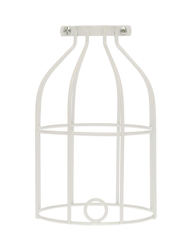 Color Cord Company Industrial Light Bulb Cage - White