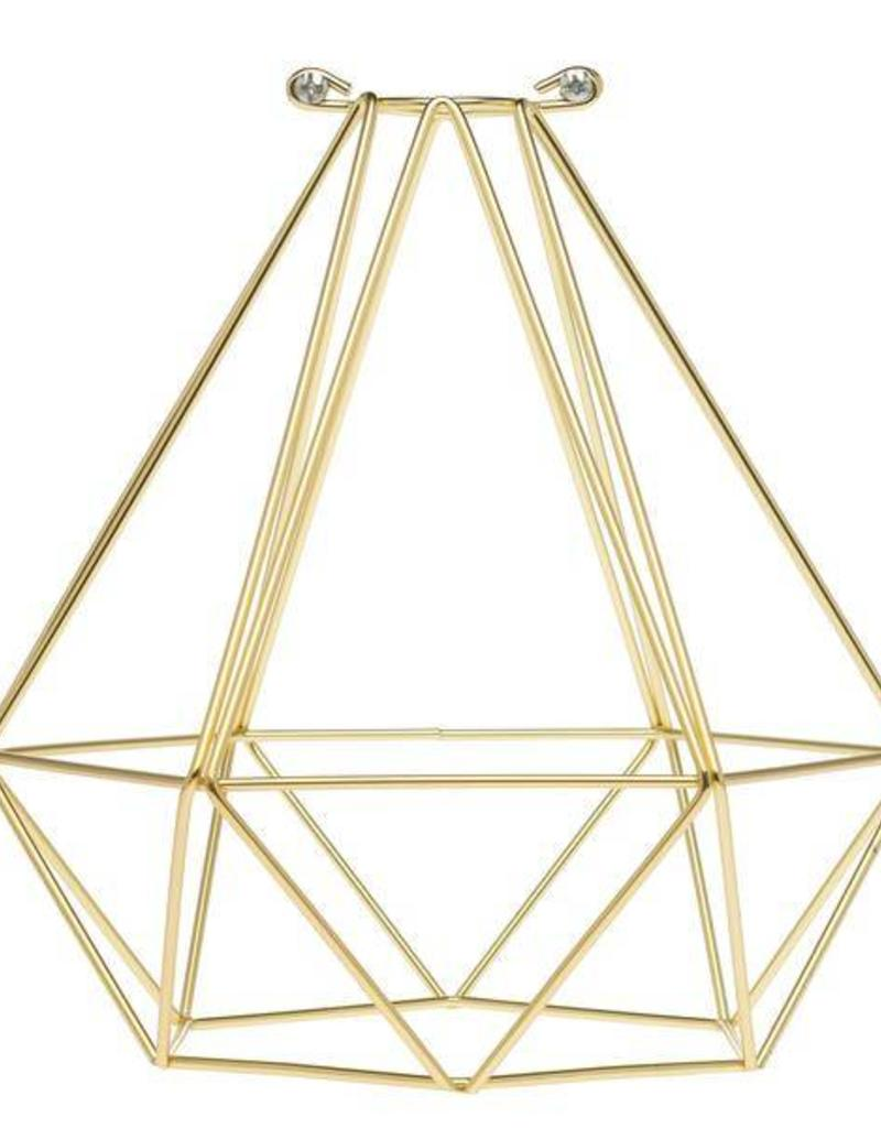 Color Cord Company Geometric Light Bulb Cage - Satin Gold