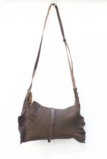 Engso Hand Crafted Cross-Body Crinkled Leather Bag - Brown