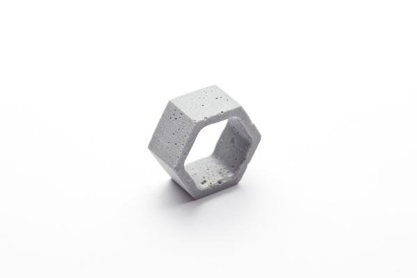 Dconstruct Jewelry Cement Outline Ring - Hexagon