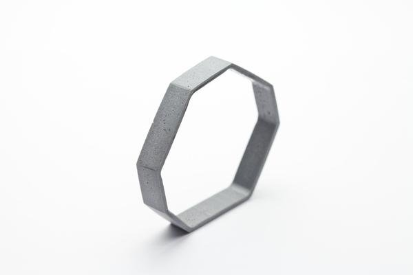 Dconstruct Jewelry Cement Outline Bangle - Octagon - Light Tone