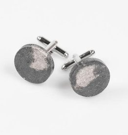 Dconstruct Jewelry Fractured Concrete Cufflinks - Circle