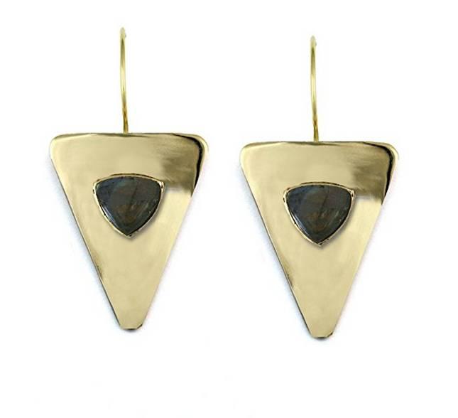 Addison Weeks Vaughn Triangles - Labradorite