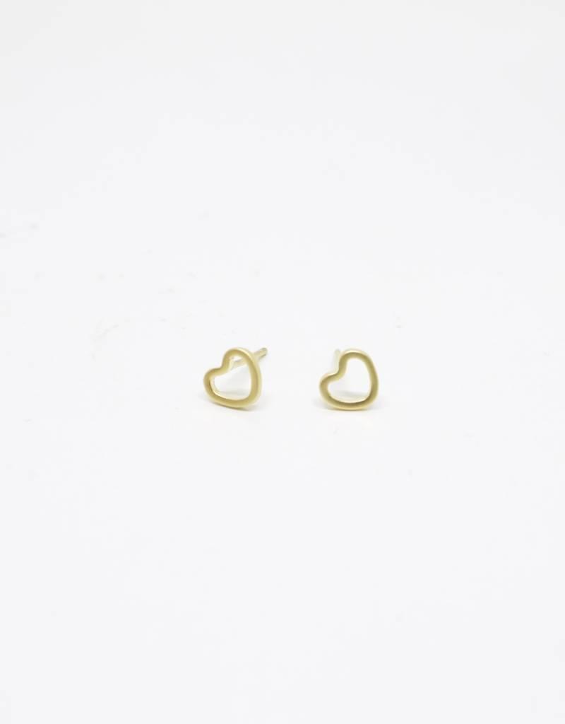 Standout Boutique Outline Stud Earrings - Heart