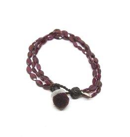 Kalosoma Garnet Beads Bracelet