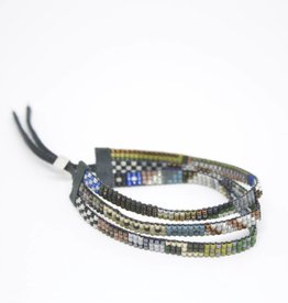 Julie Rofman Jewelry Humboldt Triple Beaded Bracelet