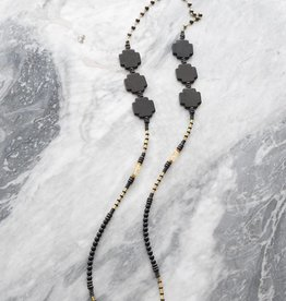 Ink + Alloy Into the Black - Black Crosses Necklace