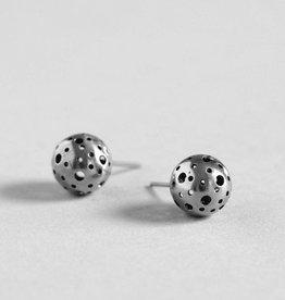 MulXiply Moon Stud Earrings - Sterling Silver