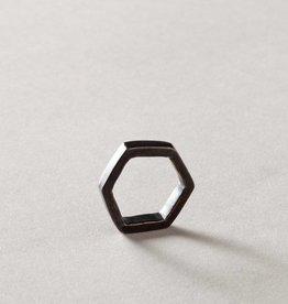 MulXiply Hexagon Ring - Oxidized Brass