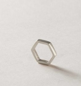 MulXiply Hexagon Ring - Silver Plated Nickel