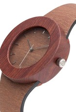 Analog Watch Co. Makore and Red Sanders - With Hour Markings