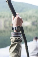 Analog Watch Co. Leather and Blackwood - No Hour Markings