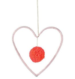 Meri Meri Wire & Wool Heart Decoration