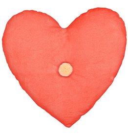 Meri Meri Velvet Heart Pillow - Coral