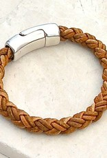 Canoe Light Brown 8 Ply Bracelet - Size 4