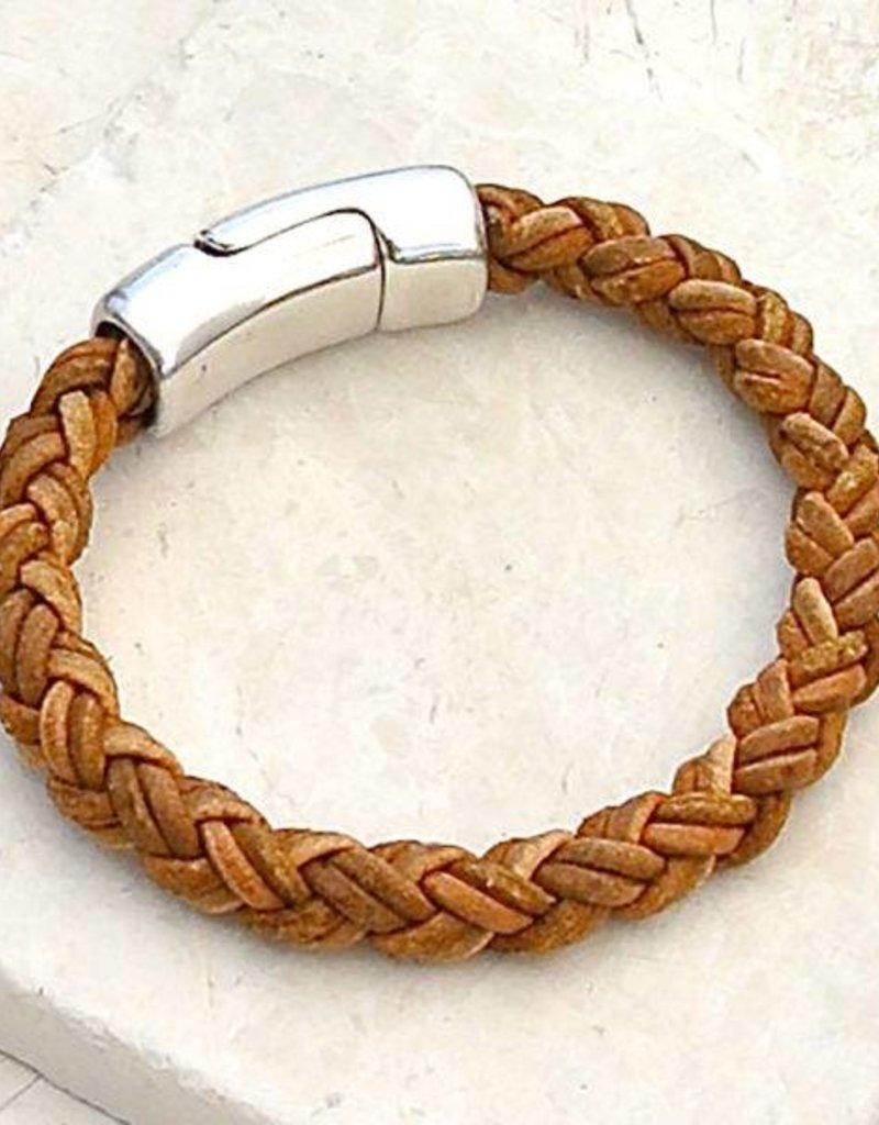 Canoe Light Brown 8 Ply Bracelet - Size 4