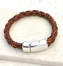 Canoe Red Brown 8 Ply Bracelet