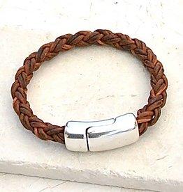 Canoe Red Brown 8 Ply Bracelet