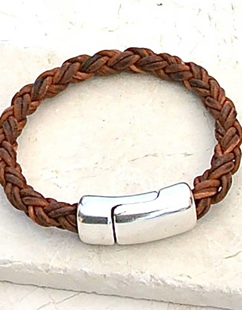 Canoe Red Brown 8 Ply Bracelet - Size 4
