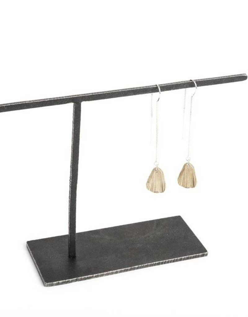 Chikahisa Studio Teardrop Threader Earrings - Bronze