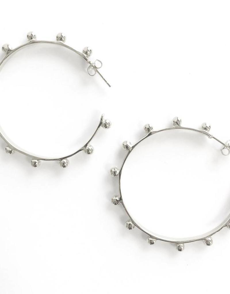 Addison Weeks Hardin Large Hoops - Silver