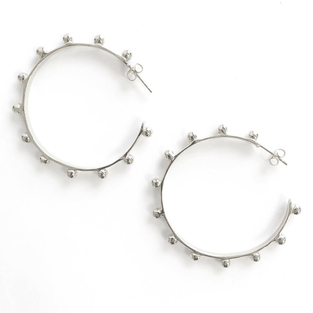 Addison Weeks Hardin Large Hoops - Silver