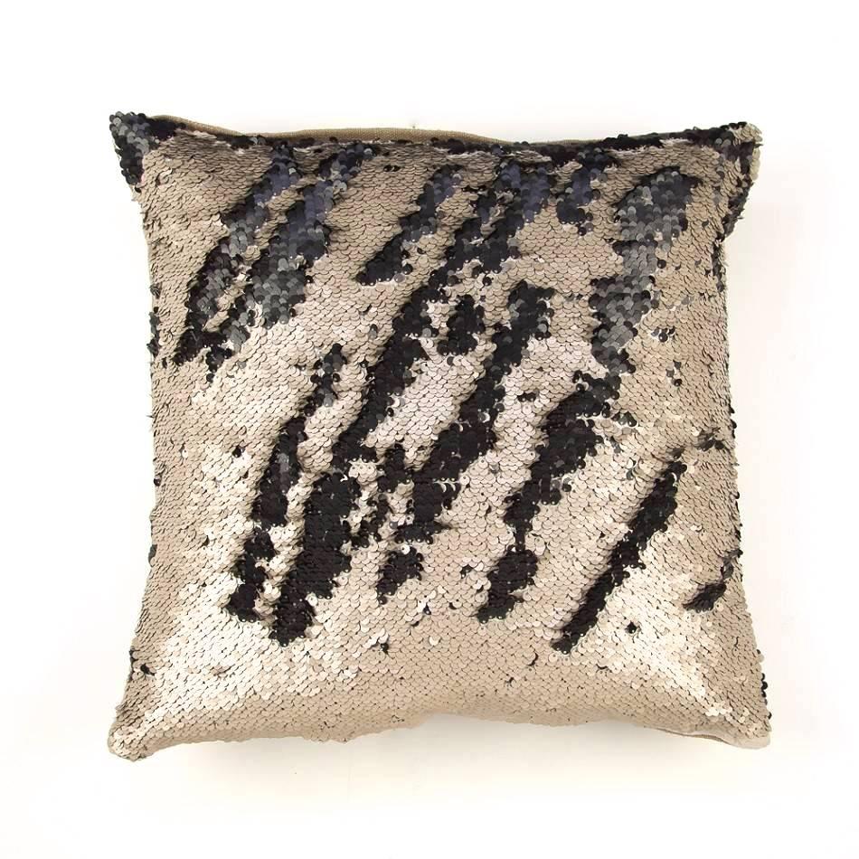 Zenza Dancer Pillow - Black + Beige
